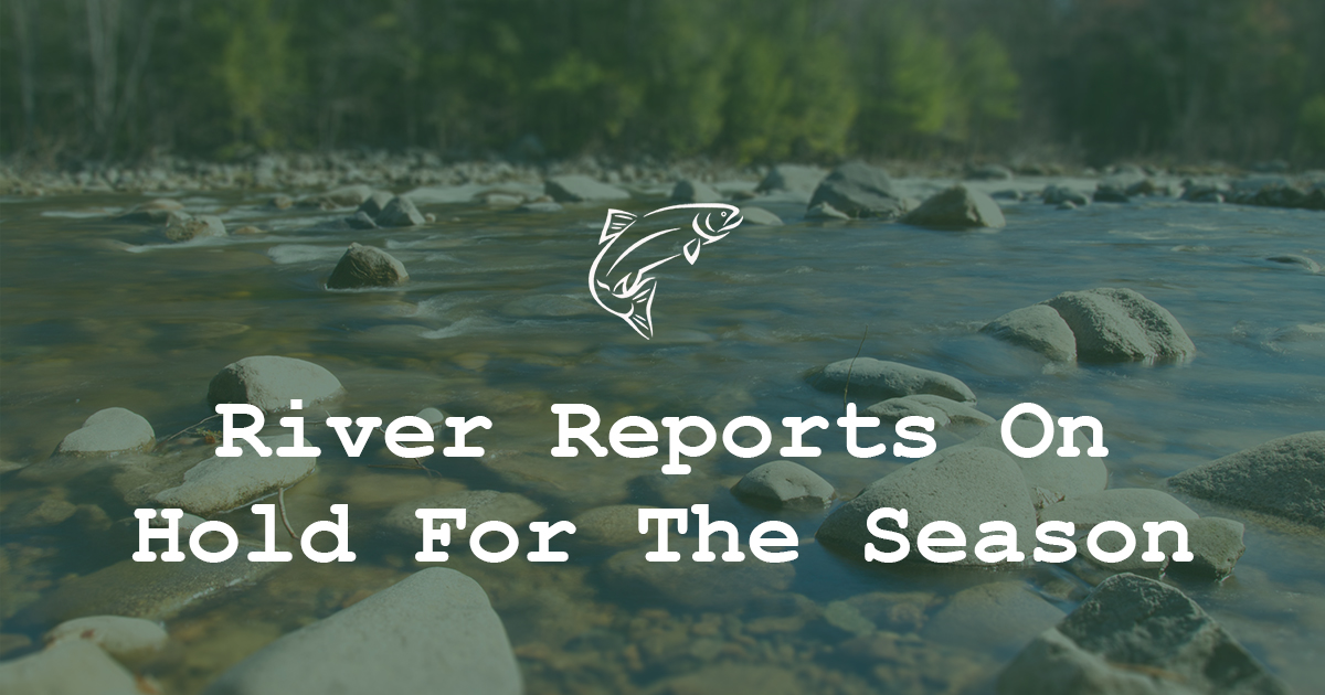 Stillwater Anglers River Reports On Hold