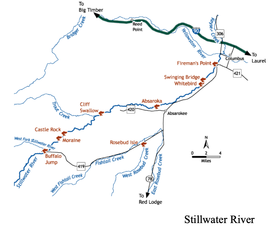 Stillwater River Access Map From Montana.gov